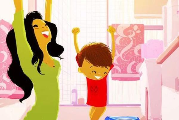 Aplaudir as conquistas de uma criança é encorajá-la a crescer